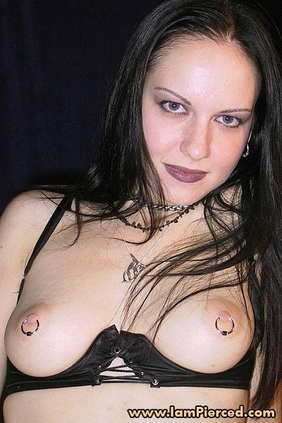 Pierced pussy and nipples